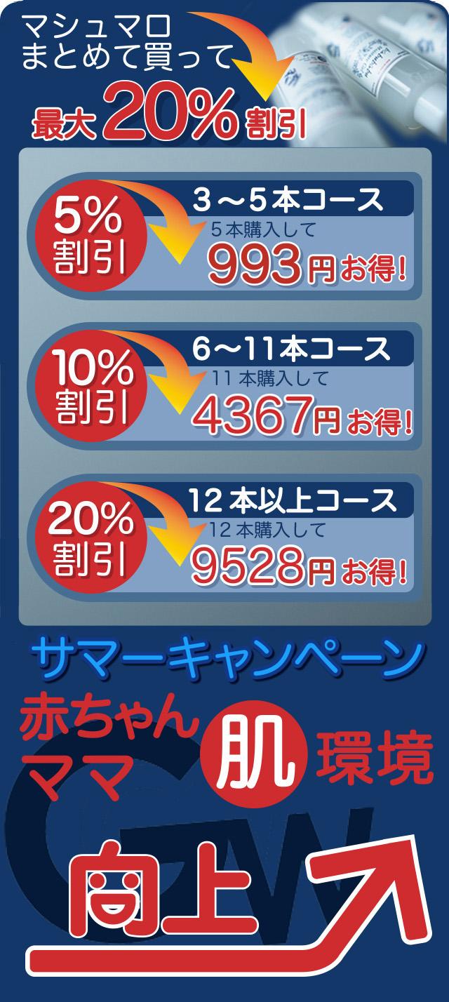 マシュマロ最大20%サマーキャンペーン